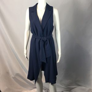 Anthropologie Long Blue Vest NWT